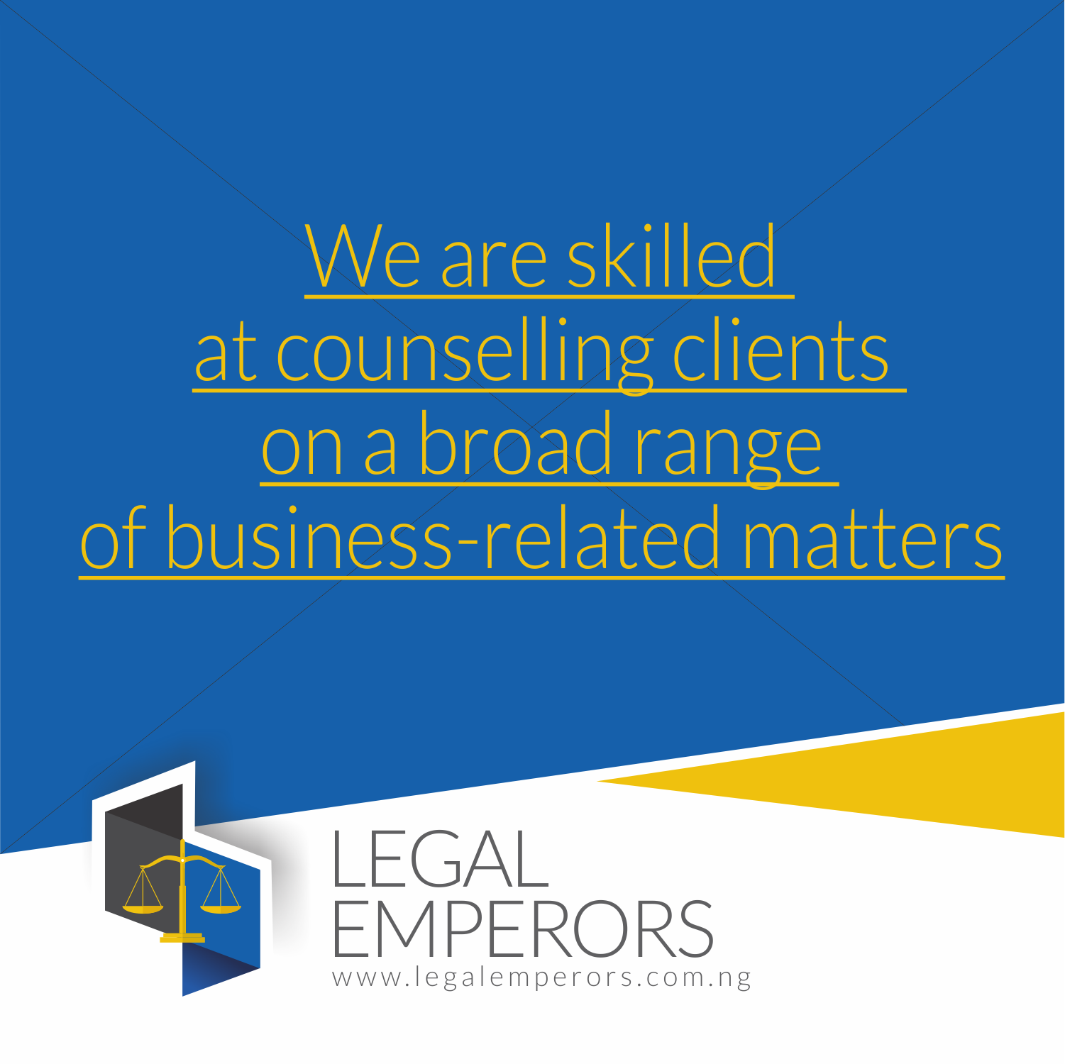 We are Skilled at Counselling Clients on a Broad Range of Business-Related Matters
