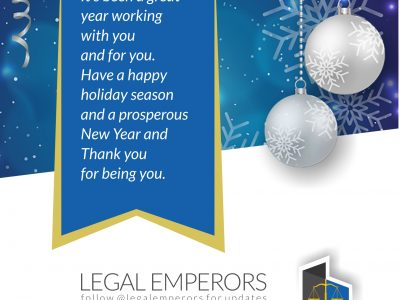 A Thank You Note from All of Us at Legal Emperors